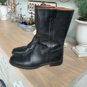 JCrew leather mid shaft boots